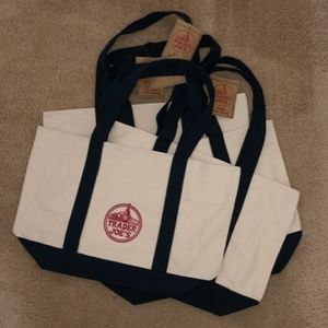 NWT 4 Trader Joe's Reusable Canvas ♻️Eco Tote Bag
